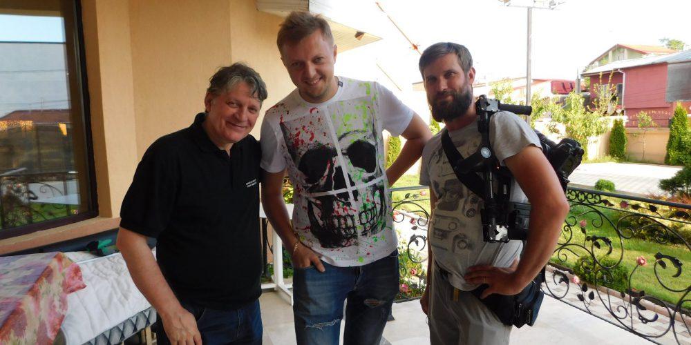 Împreună cu jurnaliștii ruși