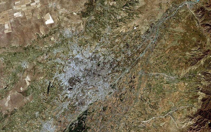 Oraşul Taşkent, Uzbekistan, văzut din satelit. Sursă NASA, foto Wikipedia.