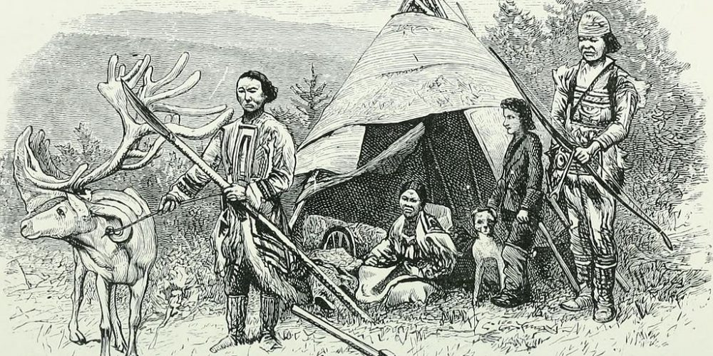 through_siberia-_1883-_reindeer_tunguses_with_birch-bark_tent